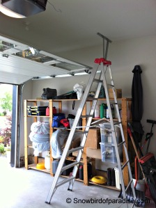 Garage Door and Ladder