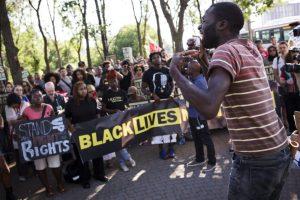 Black Lives Matter Protest crowd Toronto