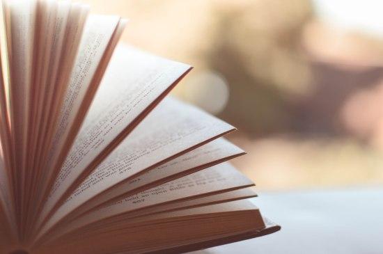 Open book blurred