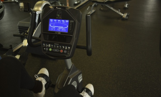 Stationary bike electronic display