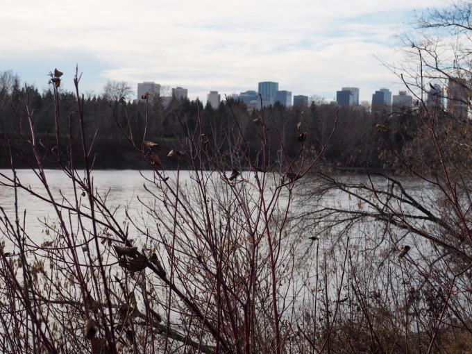 Edmonton city centre and North Saskatchewan River