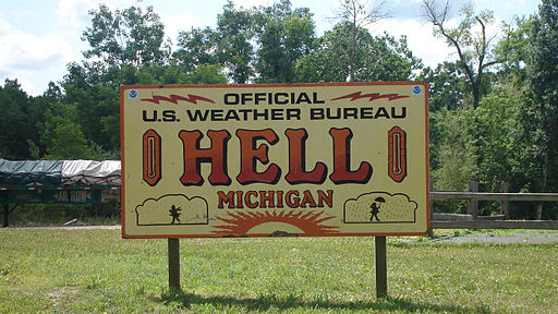 Sign, Hell Michigan