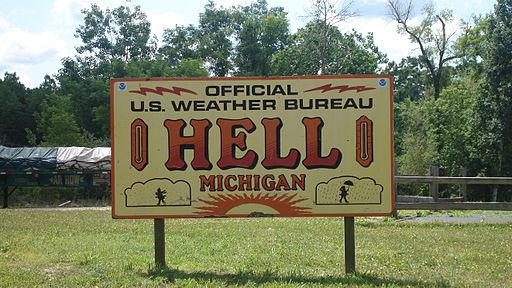 Sign, Hell Michigan