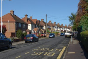 Hewens Road, Hayes End by Alan Hunt via Geograph (CC BY-SA 2.0)