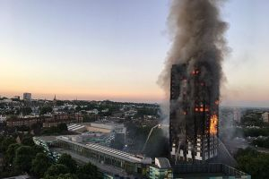 Grenfell Tower Fire by Natalie Oxford via Wikimedia Commons (CC 4.0)