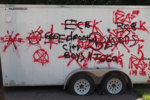 Graffiti on Trailer
