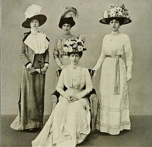 Queen Mary with Ladies-in-Waiting 1911 by J. Fortesque via Wikimedia Commons (CC0)