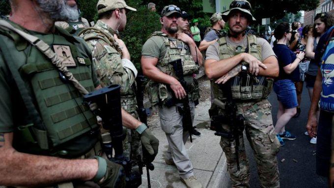 Members of White Supremacist Militia. Credit: Joshua Roberts/Reuters