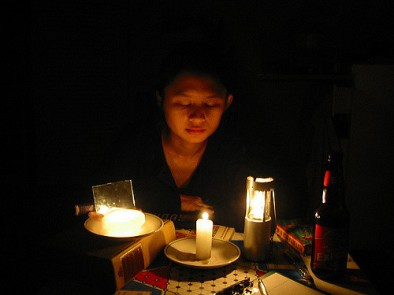 Power Outage by Candle Light