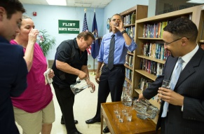 Obama Drinking Flint Water