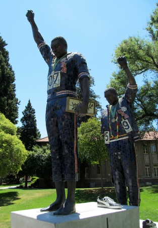 Tommie Smith and John Carlos Sculpture