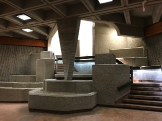Architectural feature, P3 pedway at Alberta Legislature building, Edmonton.