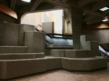 Architectural feature, P3 pedway at Alberta Legislature building, Edmonton.