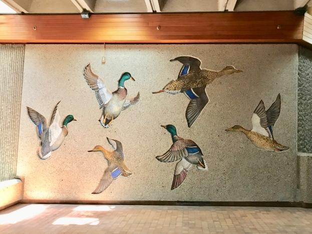 Mural in P3 pedway, Alberta Legislature building