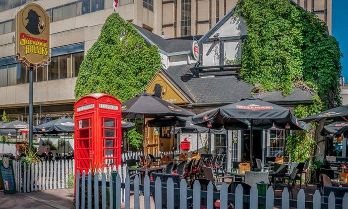 Sherlock Holmes Pub, Edmonton via Groupon.com