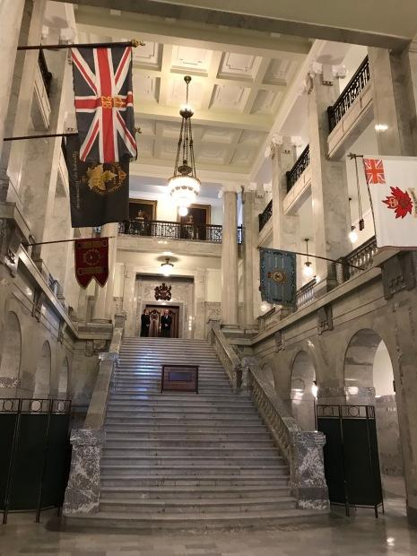 Inside Alberta Legislature Building