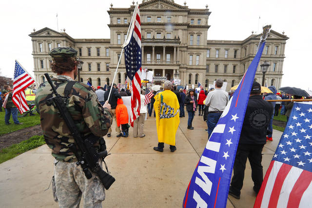 Armed Protester. from Trib Live.
