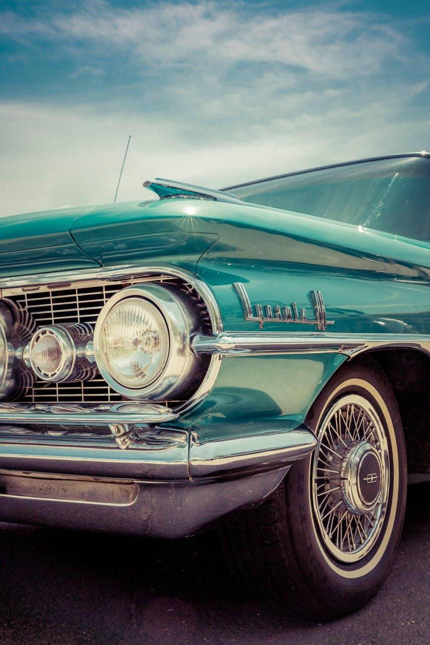 lights car porsche vintage